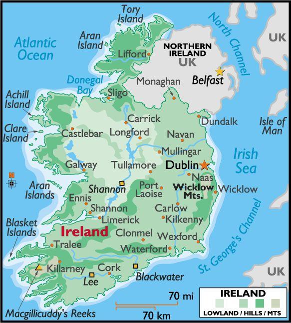 Best REPUBLIC Of IRELAND Images On Pinterest Ireland Travel - Ireland on us map