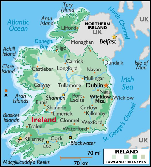 Places In The United States To See Before You Die: Detailed Large Map Of Ireland