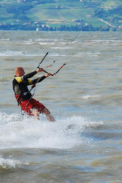 Water sport on lake Balaton