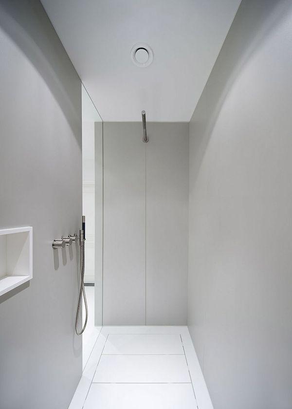 25 beste idee n over douche ontwerpen op pinterest toilet verbouwing betegelde badkamers en - Studio stijl glazen partitie ...