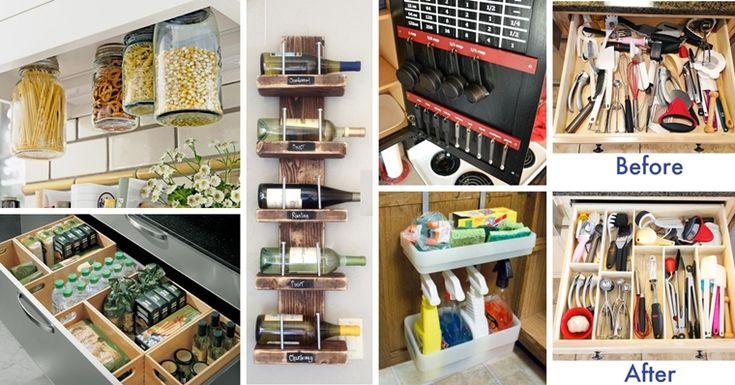 Risultati immagini per organizzare spazi fai da te in cucina