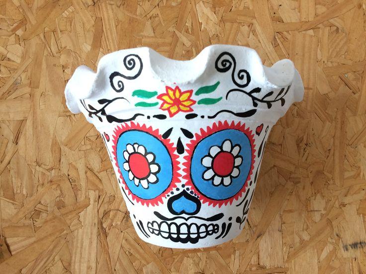 Concepção de Vaso caveira mexicana floral branco e preço http://ift.tt/2yBk95W