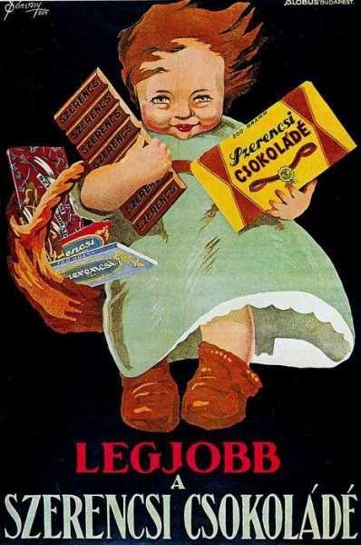 Legjobb a szerencsi csokoládé retro plakát