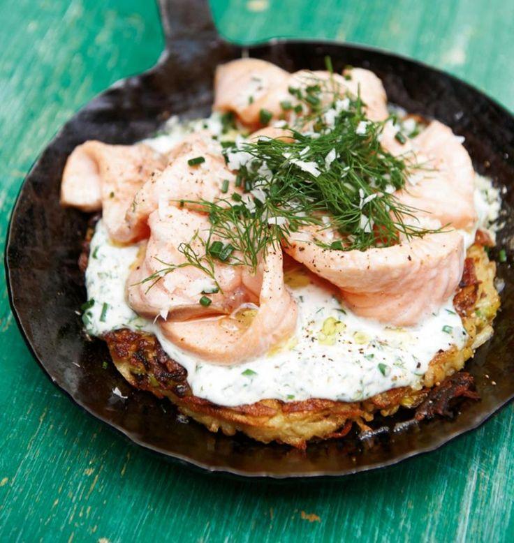 Rezept: Kartoffelrösti mit Lachs