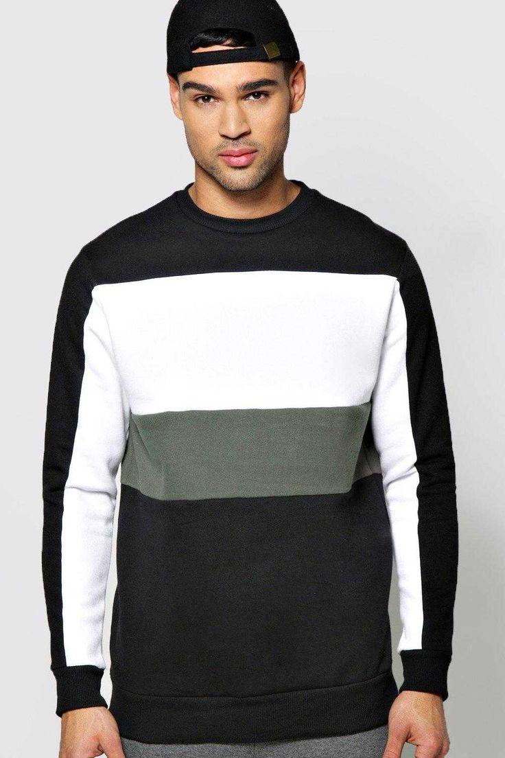 #FashionVault #boohoo #Men #Activewear - Check this : boohoo Colour Block Sweater - khaki for $ USD