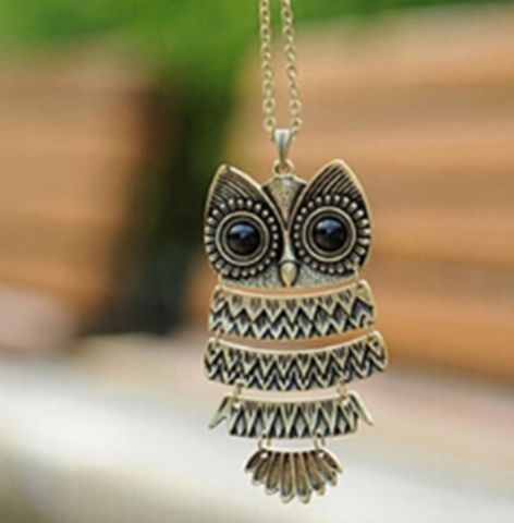 Occident Retro Style Fashion Owl Long Chain Charms Necklace - Offer (JUST PAY SHIPPING & HANDLING)