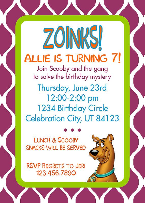 92 best Scooby Doo party ideas images on Pinterest Birthdays - invitation wording for mystery party