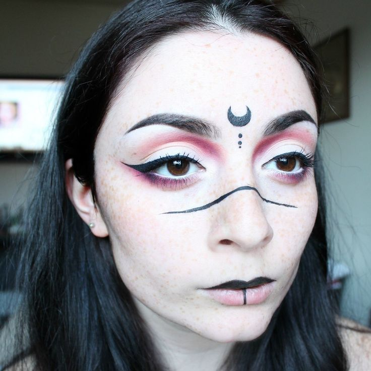 """Sailor Mononoke"" (Sailor Moon/Princess Mononoke) makeup"