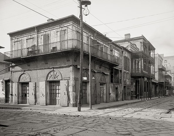 Old Absinthe House, Bourbon Street, New Orleans, c1903, Vintage Photo