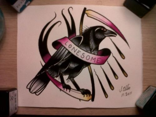 Raven: Design Inspiration, Tattoo Ideas, Tattoo Drawings, Tattoo Henna, Eating Crows, Body Art, Ravens Poe, Traditional Tattoo, Crows Tattoo