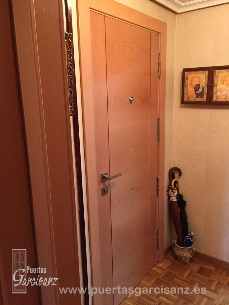 Cara interior de puerta blindada mod deco t en chapa de - Puertas blindadas barcelona ...