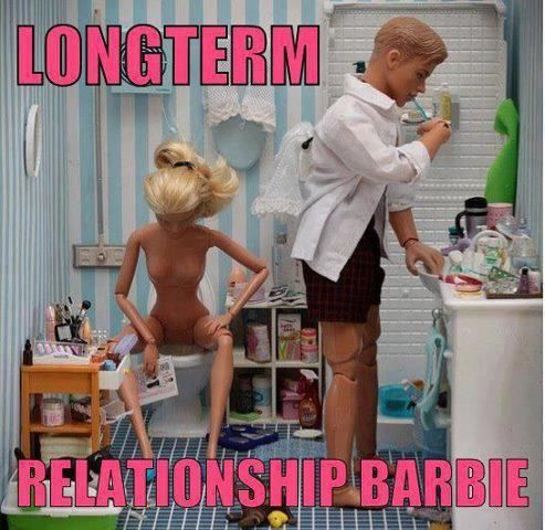 From a fan. A harsh dose of reality.    Credit: https://www.facebook.com/pages/the-photography-MARIEL-CLAYTON/19626416014: Real Life, Long Term, Giggles, Funny Stuff, So True, Longterm Relationships, So Funny, Hilarious, Relationships Barbie