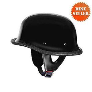 German Helmets - DOT German Motorcycle Helmet 115 Black, X-Large,$37.97