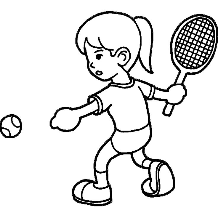 jesus playing sports coloring pages | Playing Tennis Coloring Pages | wecoloringpage | Tennis ...