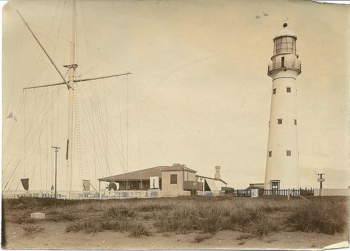 1915c Lighthouse, Bluff entrance to harbour, Durban
