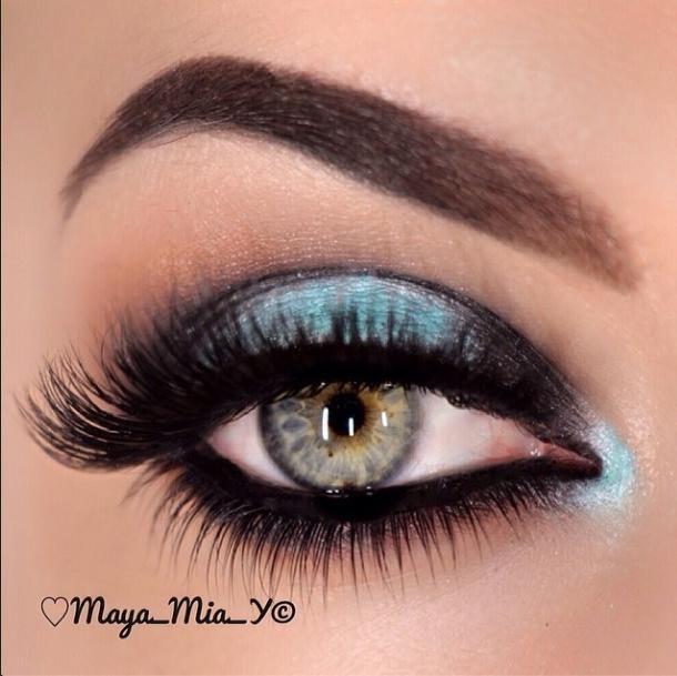 Smokey Turquoise eye #makeup