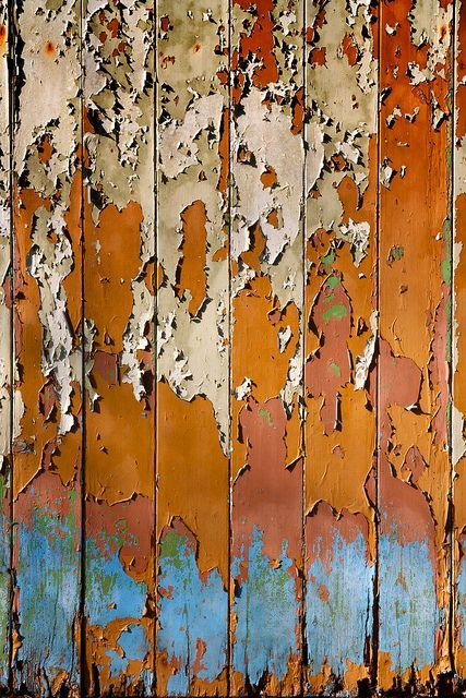 Beauty in Decay - colorful paint & rust - peeling, colour & surface texture inspirations