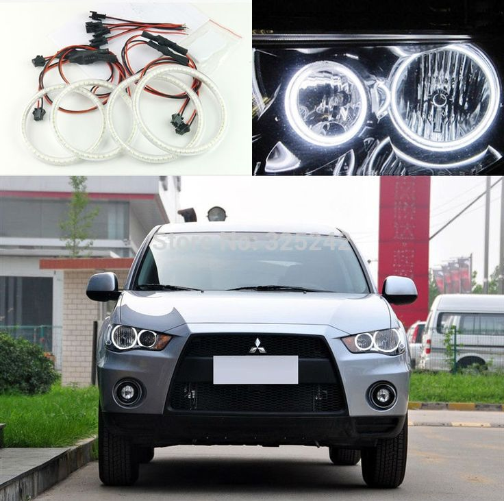 48.00$  Watch here - http://aliu1y.worldwells.pw/go.php?t=32375335661 - For Mitsubishi Outlander 2010 2011 Halogen headlight Excellent Angel Eyes Ultra bright illumination smd led Angel Eyes kit