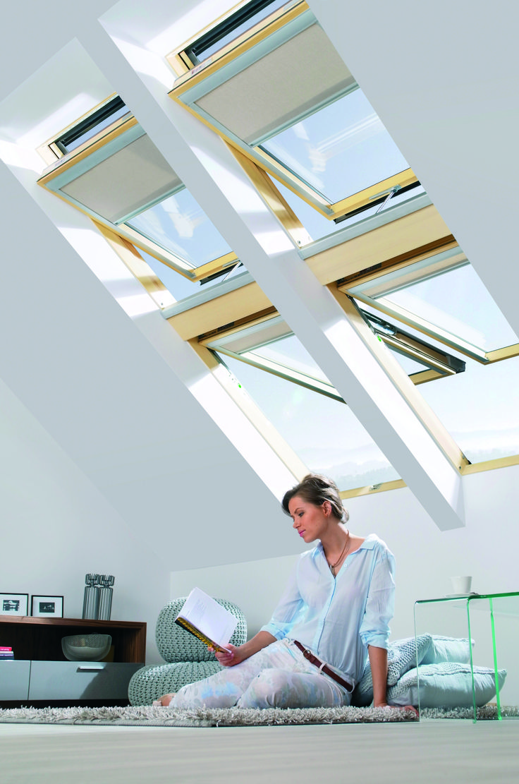 Non c'è niente come un buon libro #living #relax #windows #light #home #attic #interiordesign  www.fakro.it
