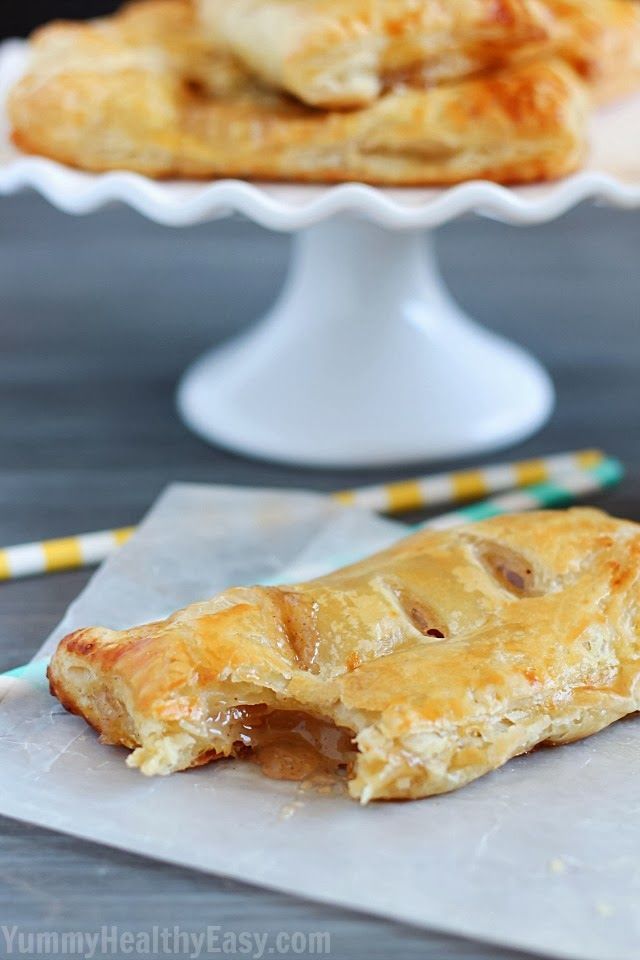 Apple Hand Pies are flaky puff pastry squares filled with homemade (easy) apple pie filling. They're a simpler alternative to apple pie that you can hold in your hand!