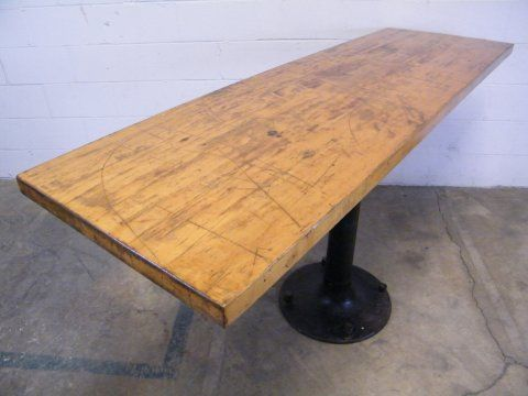 Columbus Architectural Salvage   Vintage Industrial Pedestal Table