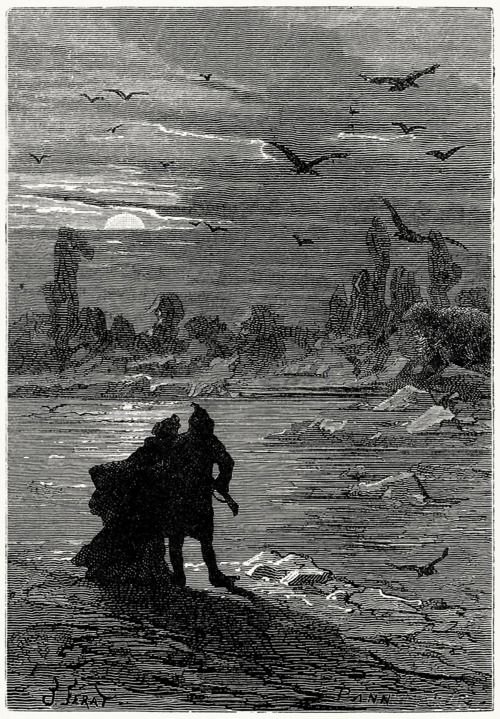 Jules Verat, from the fur contry  by Jules Verne, Boston, 1874.