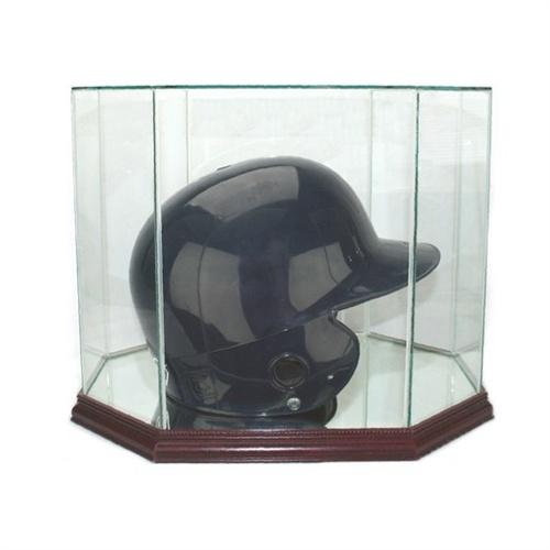 Octagon Batting Helmet Display Case Glass Display Case Batting Helmet Display Case