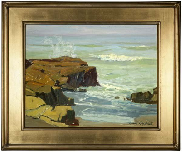 Breaking Waves, circa 1924, signed lower right: Aaron Kilpatrick, oil on canvas, 14'' x 18'', est:$2000/3000. Provenance: Private Collection, New York, NY