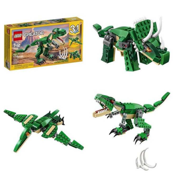 Cool Toys Paly Boys Girls Kids LEGO Creator Mighty Dinosaurs Building Plays Kit #LEGO #Custom