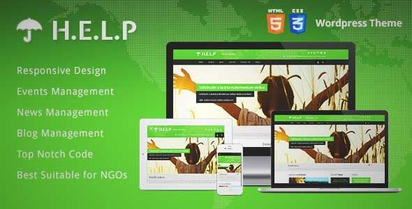 Download and review of HELP - NGO Wordpress Theme, one of the best Themeforest Non-profit themes