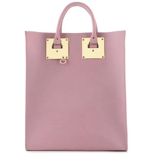 Sophie Hulme Vintage Pink Armour Tote Bag found on Polyvore