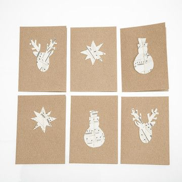 In with the Old: 3D Vintage Music Paper Cards 6Pc