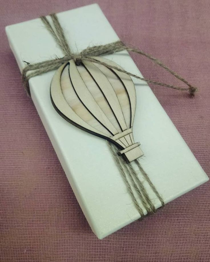 """""""Sky is the limit!""""  #box with wooden #airballoon for #baptism!"""