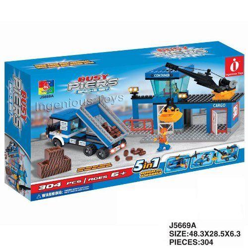 Jouet Quai En Activité 5 En 1 Appontement Tour Camion Grue Figurines (J5669A) | Your #1 Source for Toys and Games