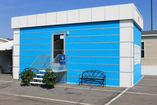 There is simply no other affordable way to turn a traditional portable building into such an interesting, durable and colorful structure. EasyTrim Reveals does it all on projects big and small. #EasyTrimRevalsWhoWeAre