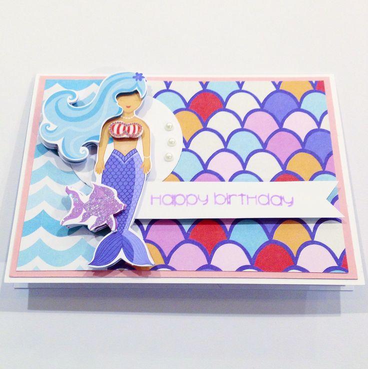 Mermaid Scrapbooking Card! Made by Pammypumpkin!