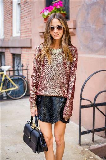 Metallic Vineyard Sweater