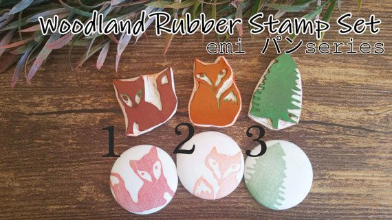 Check out this item in my Etsy shop https://www.etsy.com/listing/502977649/fox-rubber-stamp-set-of-3-woodland