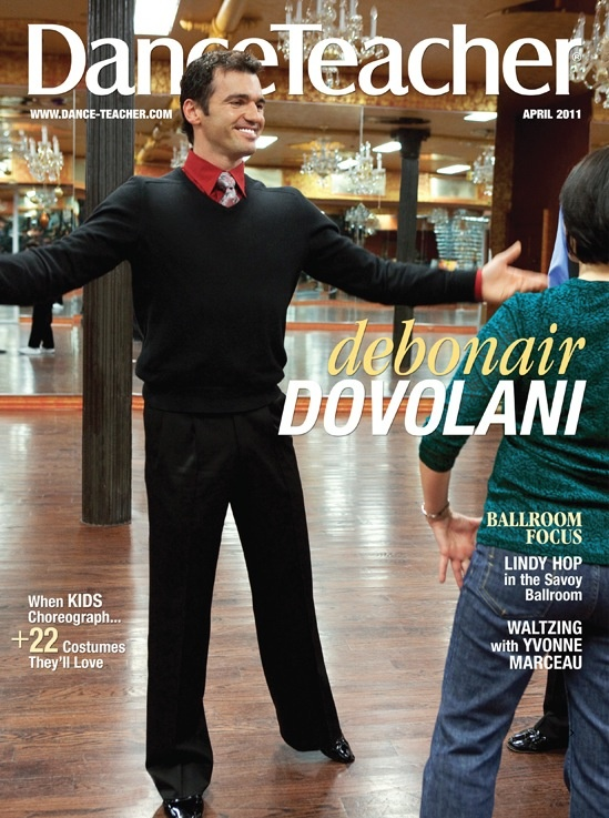 "DT April 2011 Cover, featuring ""Dancing with the Stars""' Tony DovolaniPerforming Art, Tony Dovolani, Circuscirqueand Performing, Classic Covers, 2011 Covers, April 2011, Dance Education, Circus Cirque And Performing, Dt April"