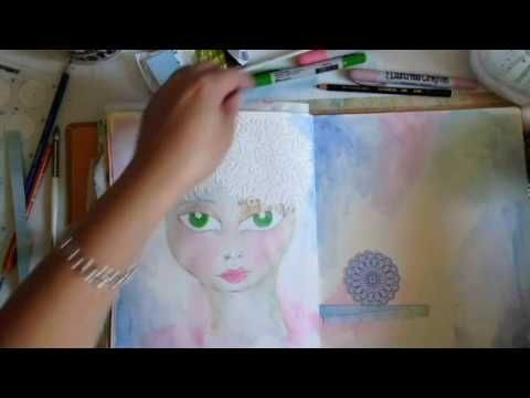 Process Video - Art Journal with Connie