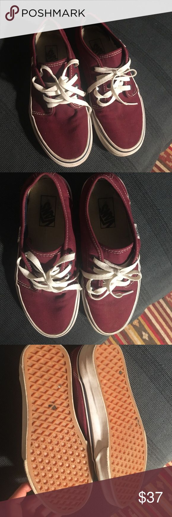 vans Womans 7.5 Maroon Pair of Vans - Womans size 7.5  worn only a few times. Shoes Sneakers