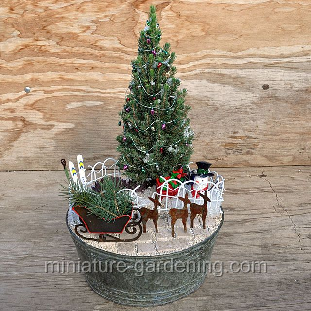 Christmas Sleigh And Tree: