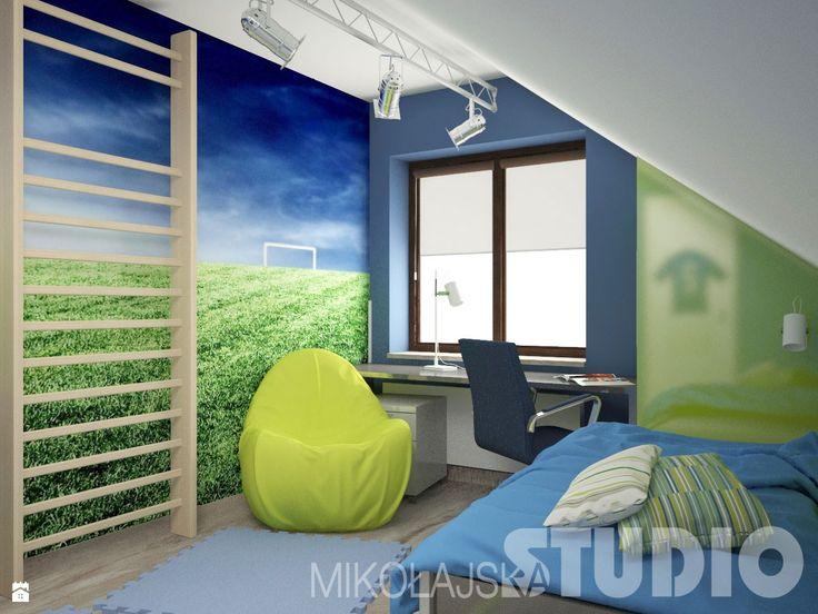nowoczesny pok j dla ch opca pok j dziecka styl nowoczesny miko ajskastudio wn trza. Black Bedroom Furniture Sets. Home Design Ideas