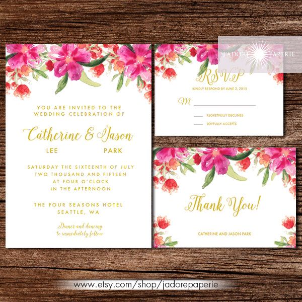 17 Best ideas about Watercolor Invitations on Pinterest ...