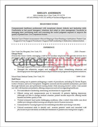 Nurse Resume Sample Life Style Nursing resume, Lifestyle, Style