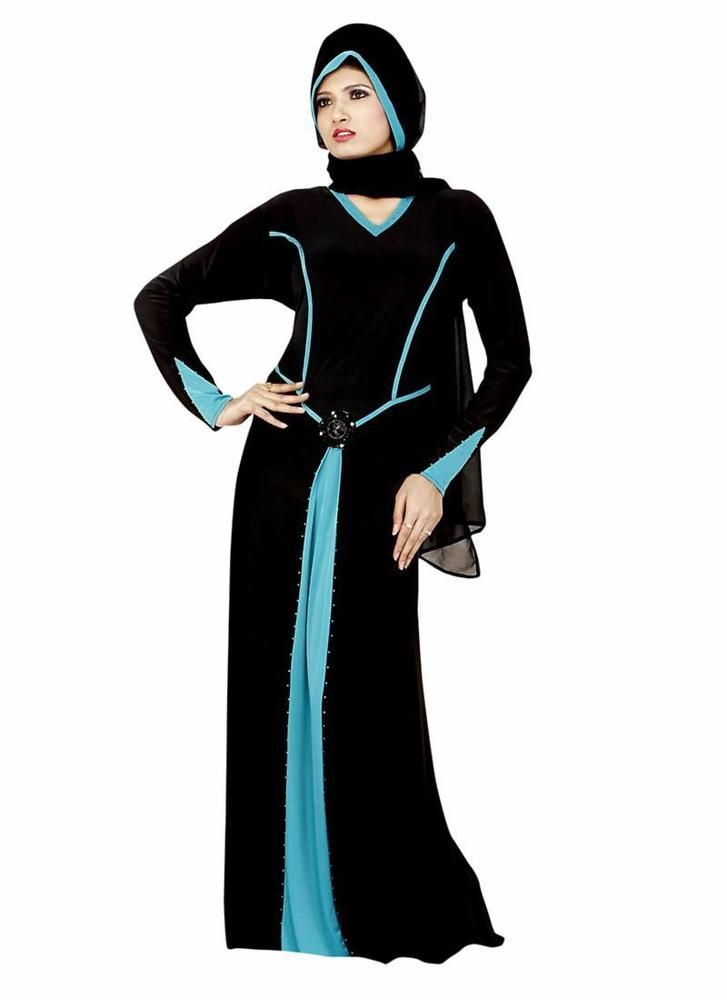 Abayaa Hijab Maxi Bahiyyah Dubai Clothing Jilbab Style New Long Dress Islamic…