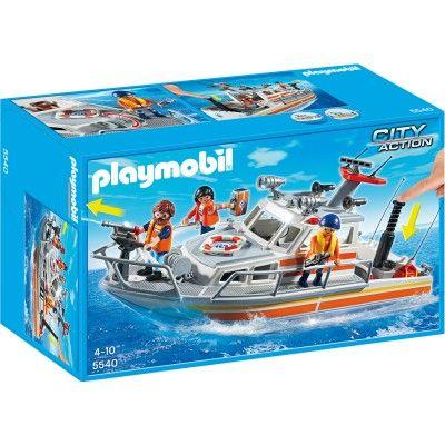 Playmobil 5540 : Bateau de sauvetage avec pompe à incendie - Playmobil-5540