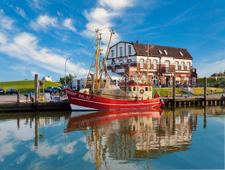 Harbour, Pellworm Island, north Germany
