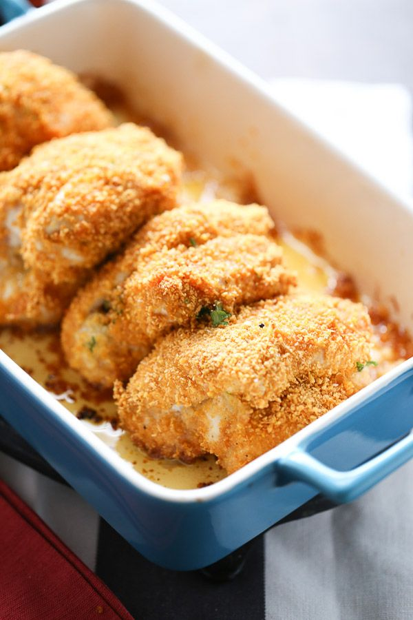 This chicken kiev is coated in a perfectly seasoned coating then wrapped around herbed butter spread and baked up to absolute perfection! lemonsforlulu.com #ButterImprovement