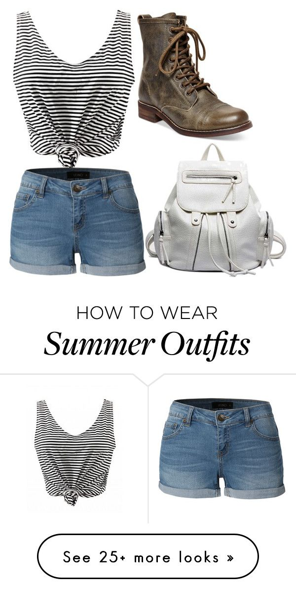 """Lazy day outfit"" by bstar-1 on Polyvore featuring LE3NO, Steve Madden, summercamp and 60secondstyle"